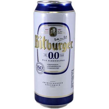 Canette Bitburger sans alcool 50cl