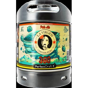 Fût bière Perfectdraft 6L La Virgen 360
