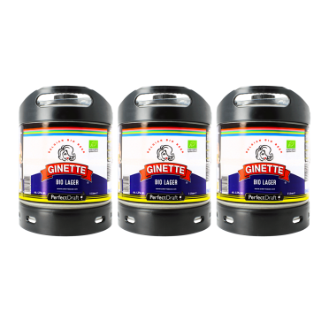 Pack 3 fûts Perfectdraft Ginette Bio Lager