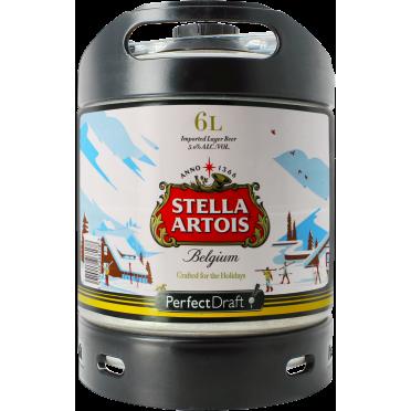 Fût 6L Stella Artois Holidays Perfectdraft