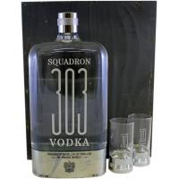 Coffret Vodka squadron 303 70cl + 2 verres